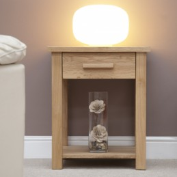 Modern Solid Oak Lamp Table...