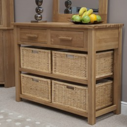 Modern Solid Oak Basket...