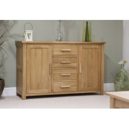 Modern Solid Oak 4 Drawer 2...