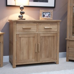 Modern Solid Oak 2 Drawer 2...