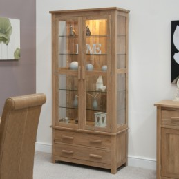 Modern Solid Oak Glass...