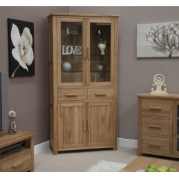 Modern Solid Oak Display Unit
