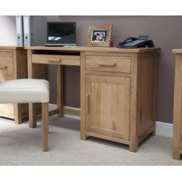 Modern Solid Oak Small Desk